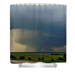 Shower Curtain featuring the photograph Bennington-chapman Tornado by Ed Sweeney