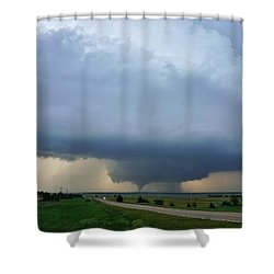 Shower Curtain featuring the photograph Bennington Tornado - Inception by Ed Sweeney