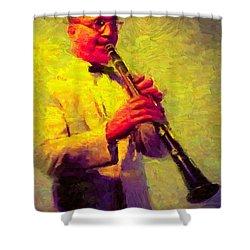 Benny Goodman Shower Curtain