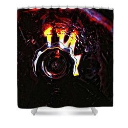 Bent Light Shower Curtain by Donna Blackhall