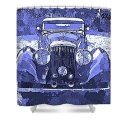 Bentley Blue Pop Art P2 Shower Curtain