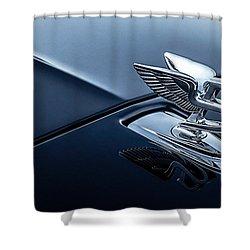 Shower Curtain featuring the digital art Bentley Flying B by Douglas Pittman