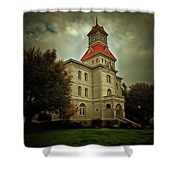 Benton County Courthouse Shower Curtain by Thom Zehrfeld