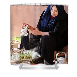 Shower Curtain featuring the photograph Berber Woman by Andrew Fare