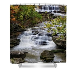 Shower Curtain featuring the photograph Berea Falls by Dale Kincaid