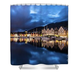 Bergen Harbor Shower Curtain