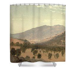 Bergen Park Shower Curtain by John Frederick Kensett