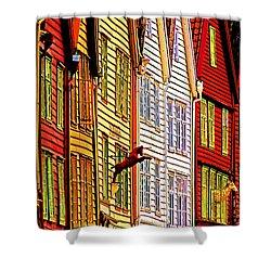 Bergen Warehouses Shower Curtain