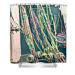 Shower Curtain featuring the photograph Berimbau's by Kim Wilson