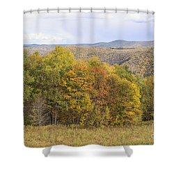 Berkshires In Autumn Shower Curtain