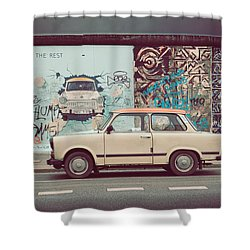 Berlin East Side Gallery Shower Curtain