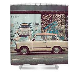 Berlin East Side Gallery Shower Curtain