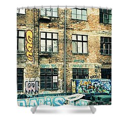Berlin House Wall With Graffiti  Shower Curtain