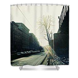 Berlin Street With Sun Shower Curtain
