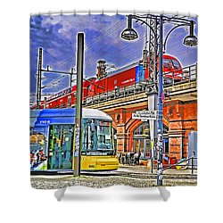 Berlin Transit Hub Shower Curtain by Dennis Cox WorldViews