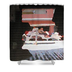 Shower Curtain featuring the photograph Bermuda Carriage Impressions by Ian  MacDonald