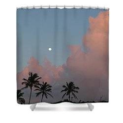 Bermuda Morning Moon Shower Curtain by Richard Reeve