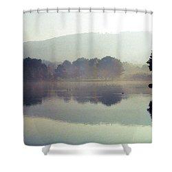 Bernharts Dam Fog 020 Shower Curtain by Scott McAllister