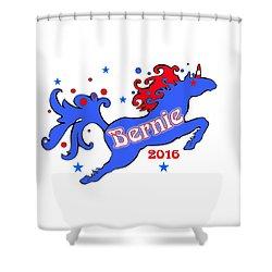Bernie's Unicorn 2016 Shower Curtain