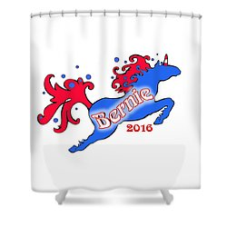 Bernie's Unicorn Option 3 Shower Curtain