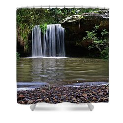 Shower Curtain featuring the photograph Berowra Waterfall by Werner Padarin
