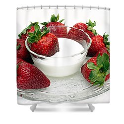 Berries And Cream Shower Curtain