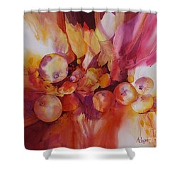 Berries Beautiful Shower Curtain by Donna Acheson-Juillet
