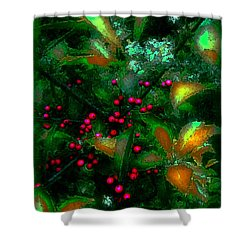 Berries Shower Curtain by Iowan Stone-Flowers