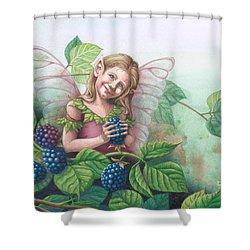 Blackberry Fairie Shower Curtain
