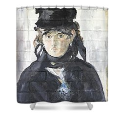 Shower Curtain featuring the painting Berthe Morisot by Stan Tenney