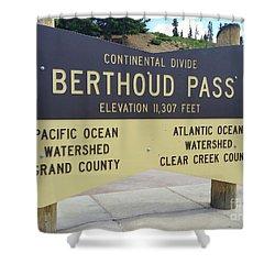 Berthoud Pass Shower Curtain