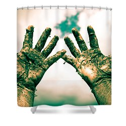 Beseeching Hands Shower Curtain