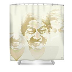 Shower Curtain featuring the digital art Beside Himself by Shelli Fitzpatrick