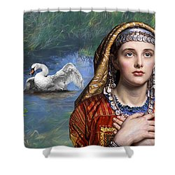 Beside The Swan Shower Curtain