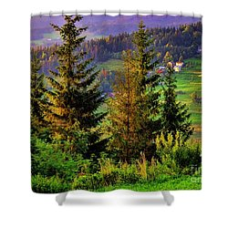 Shower Curtain featuring the photograph Beskidy Mountains by Mariola Bitner
