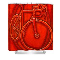 Bespoked In Orange  Shower Curtain