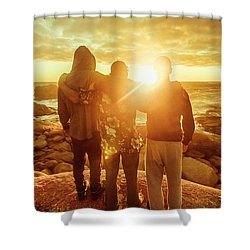 Shower Curtain featuring the photograph Best Friends Greeting The Sun by Jorgo Photography - Wall Art Gallery