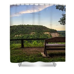 Shower Curtain featuring the photograph Best Seat In The House by Mark Papke