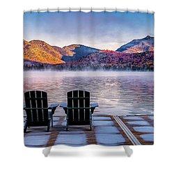 Best Seats In The Adirondacks Shower Curtain