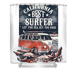 Best Surfer Shower Curtain