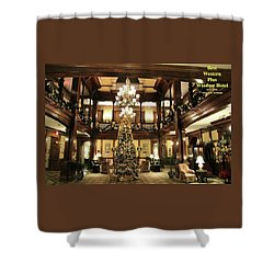 Best Western Plus Windsor Hotel Lobby - Christmas Shower Curtain