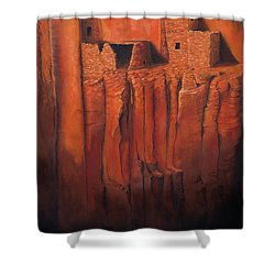 Betatakin Ruins Shower Curtain by Jerry McElroy