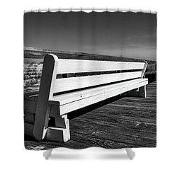 Bethany Beach Boardwalk Shower Curtain