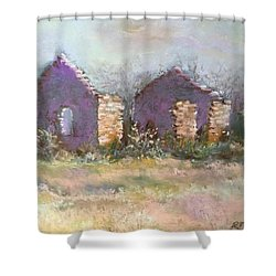 Bethel School At Sunset Shower Curtain by Rebecca Matthews