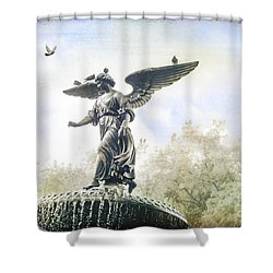 Bethesda Angel Shower Curtain