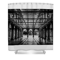 Bethesda Terrace Arcade 2 - Bw Shower Curtain