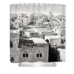 Bethlehem Old Town Shower Curtain