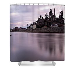 Bethlehem Steel Sunset Shower Curtain