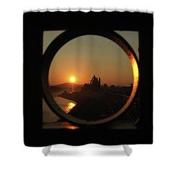 Bethlehem Sunrise Framed Shower Curtain