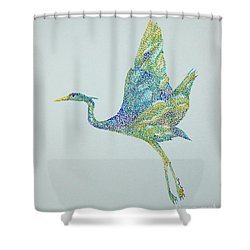 Beth's Egret Shower Curtain